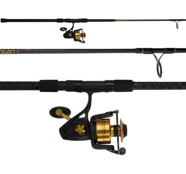 Penn ssv6500102h spinfisher v 10ft surf combo for Best surf fishing rod and reel combo