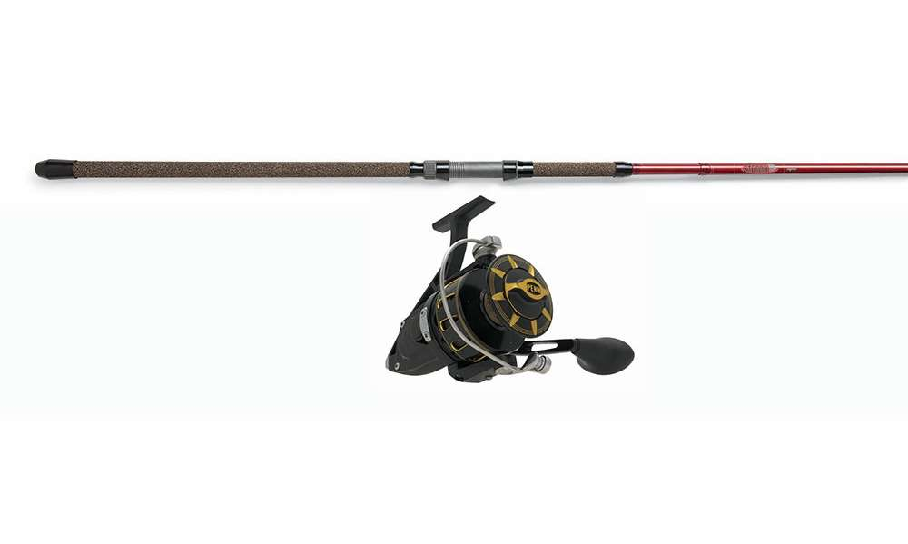 Penn torque reel black st croix avid spin rod combo for Surf fishing rods and reel combos