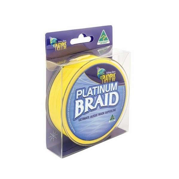 Platypus platinum braid line 50 lb x 125 yd high vis for 50 lb braided fishing line