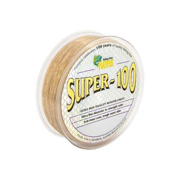 Platypus super 100 monofilament line 15 lb x 300 m for 100 lb fishing line