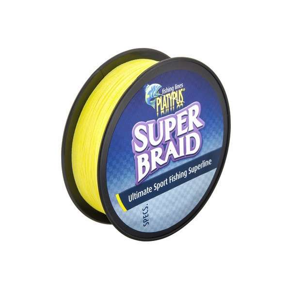 Platypus super braid fishing line 30 lb x 100 yd yellow for 30 lb fishing line