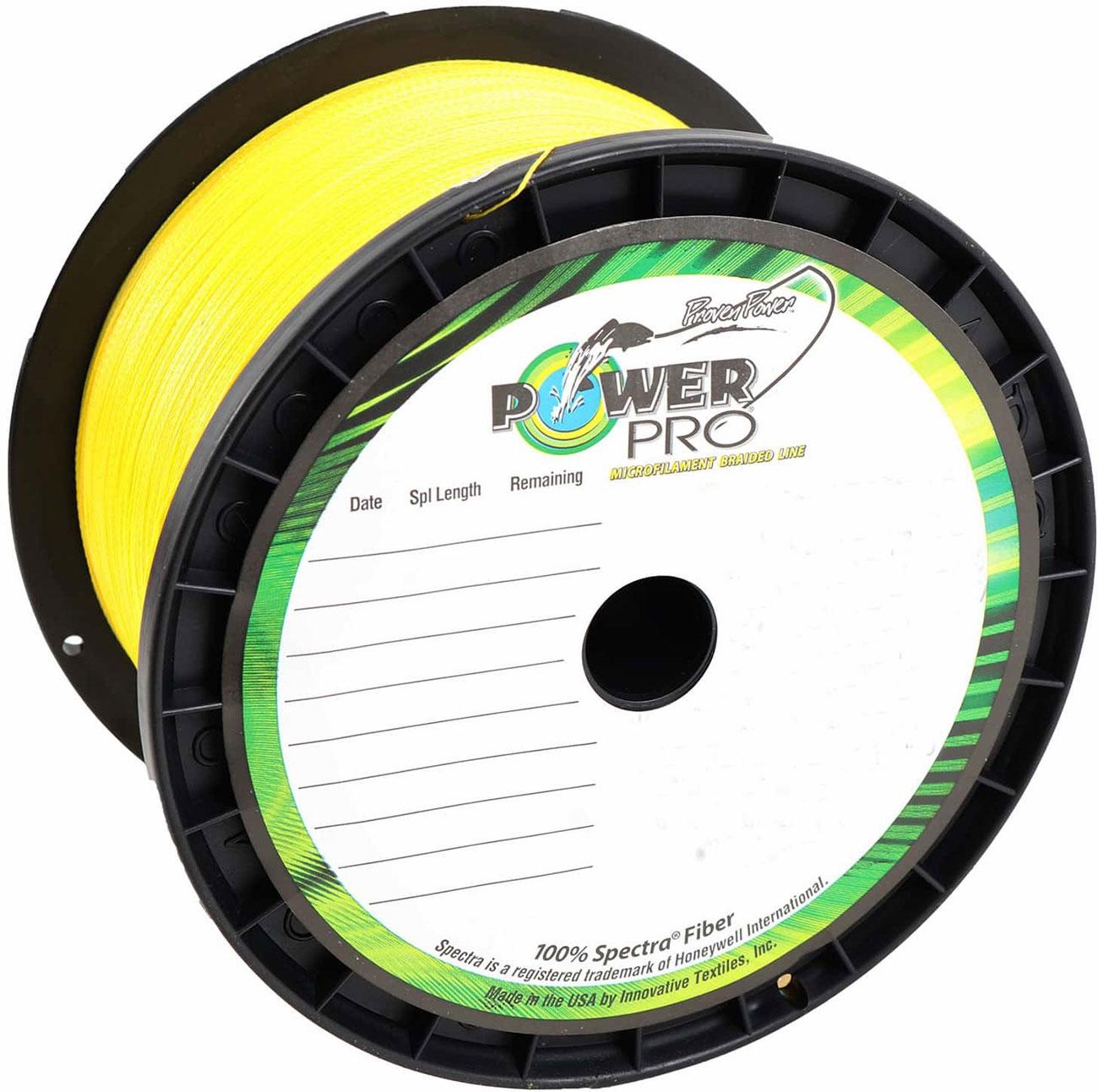 Power Pro 100lb 1500yds Braided Spectra Fishing Line Hi Vis Yellow
