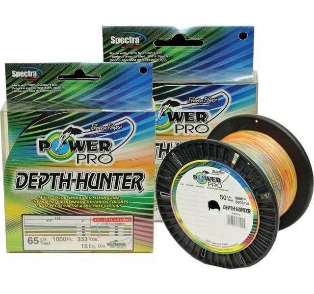 Powerpro depth hunter braided fishing line 3000yds 50lb for 50 lb braided fishing line