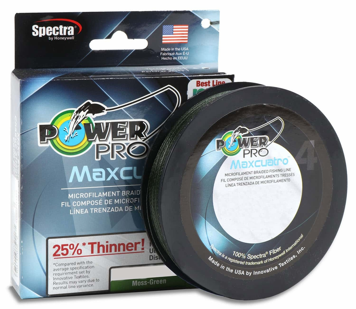 Power Pro Spectra Braided Fishing Line 65 lb Test 300 Yards Yds Moss Green 65lb
