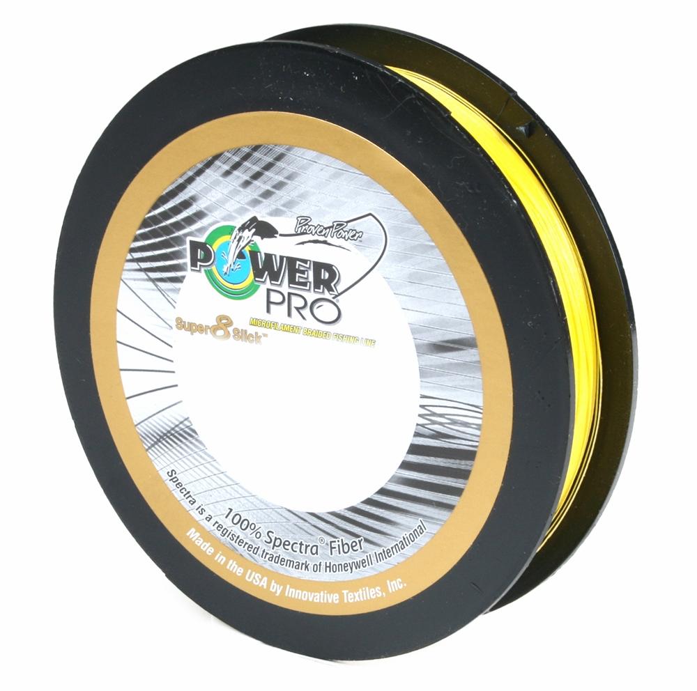 PowerPro Super Slick Braided Line 10lb 300yds Hi-Vis Yellow