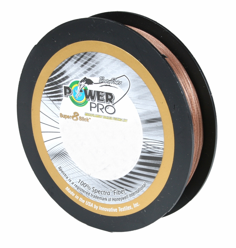 LOT OF 2 POWER PRO SUPER8SLICK 150YDS BRAIDED 80LB LINE TIMBER BROWN