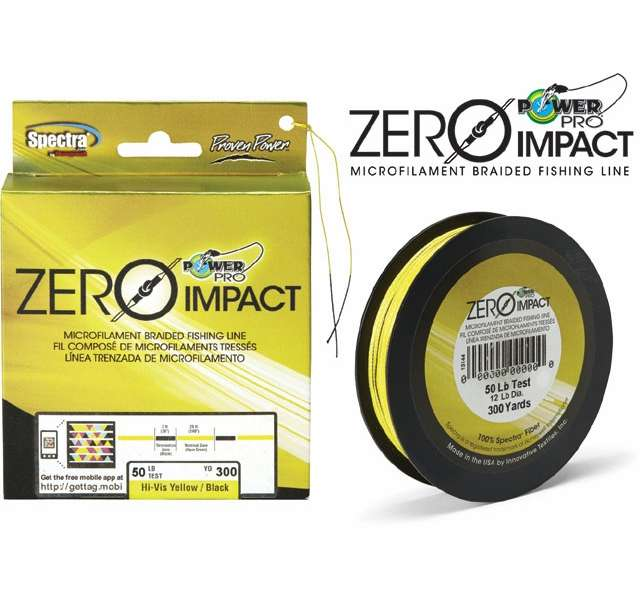 Powerpro zero impact braided fishing line 20lb 300yds hi for 20 lb braided fishing line