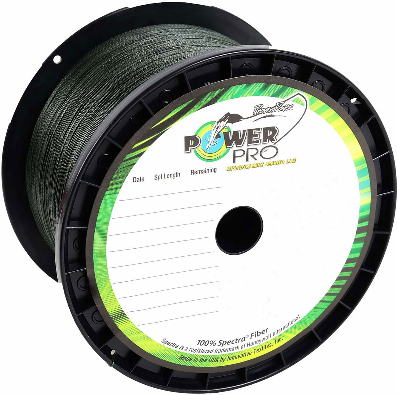 "Power Pro Spectra Braid Fishing Line 30 lb Test 300 Yards Yds Moss Green /""New/"""