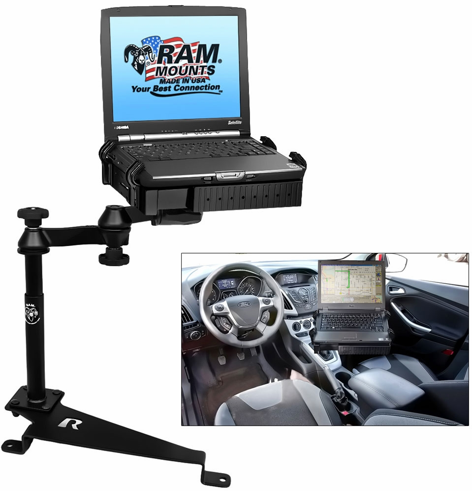 RAM No-Drill Vehicle Laptop Mount System -