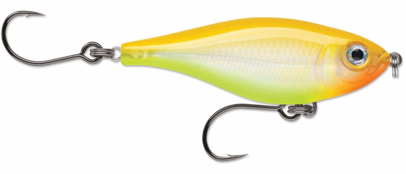 Rapala x rap twitchin mullet lure bnc bone chartreuse for Chartreuse fishing lures