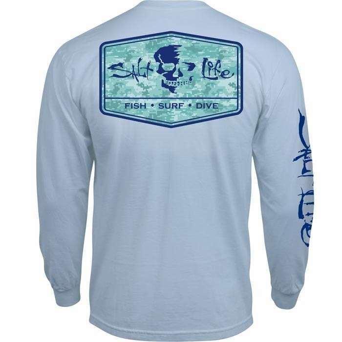 Salt life at ease long sleeve t shirt 2xl for Salt life long sleeve fishing shirts