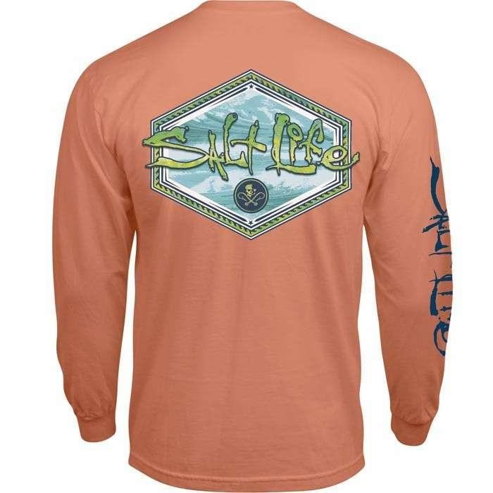 Salt life mahi peak long sleeve t shirt grapefruit 2xl for Salt life long sleeve fishing shirts