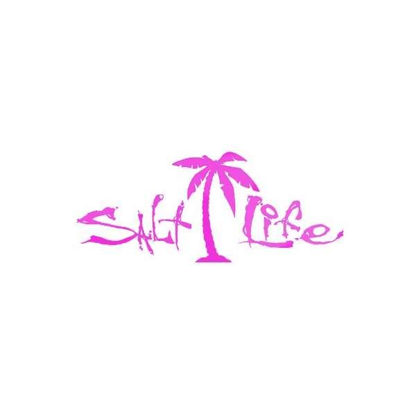 Salt Life Signature Logo Decal Purple Medium