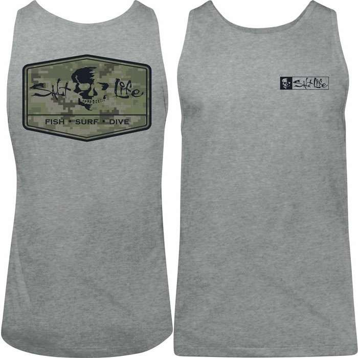 eaea5278bf730 Salt Life SLM10316ATHHTLRG At Ease Men s Tank Top - Athletic Heather - Large