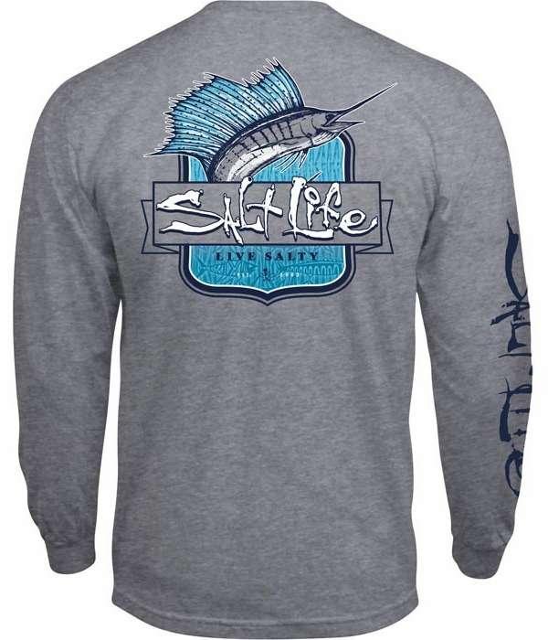 Salt life sailfish tribe long sleeve pocket tee tackledirect for Salt life long sleeve fishing shirts