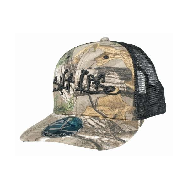 Salt Life Incognito Trucker Hat - Black Camo  17f4d3410f6