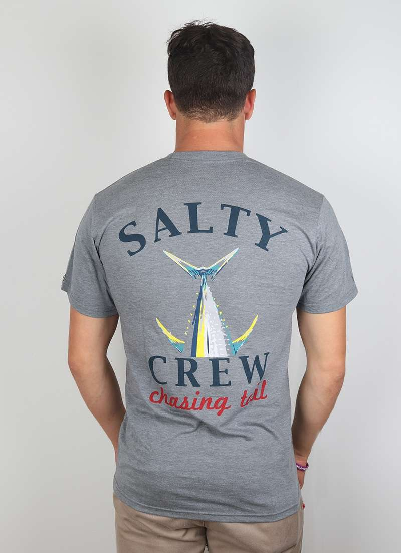 Salty Crew Chasing Tail SS T-shirt Graphite Heather - X-Large STY-0129-4