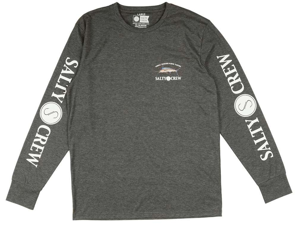 Salty Crew Billfish Tech Long Sleeve Shirt - Charcoal Heather M STY-0197-1