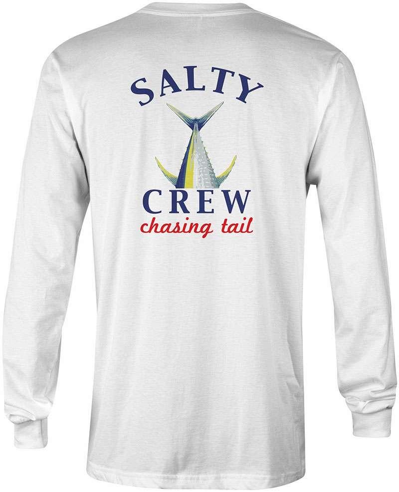 Salty Crew Chasing Tail Long Sleeve Tech Shirt - White L STY-0056-3