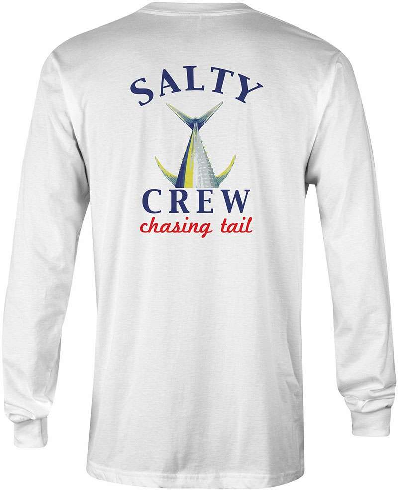 Salty Crew Chasing Tail Long Sleeve Tech Shirt - White M STY-0056-2