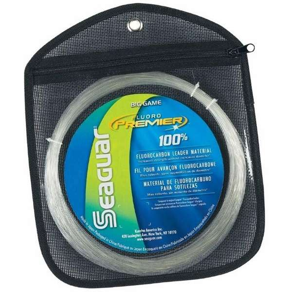 Seaguar fluoro premier big game fluoro leader 25yds for Fishing line leader