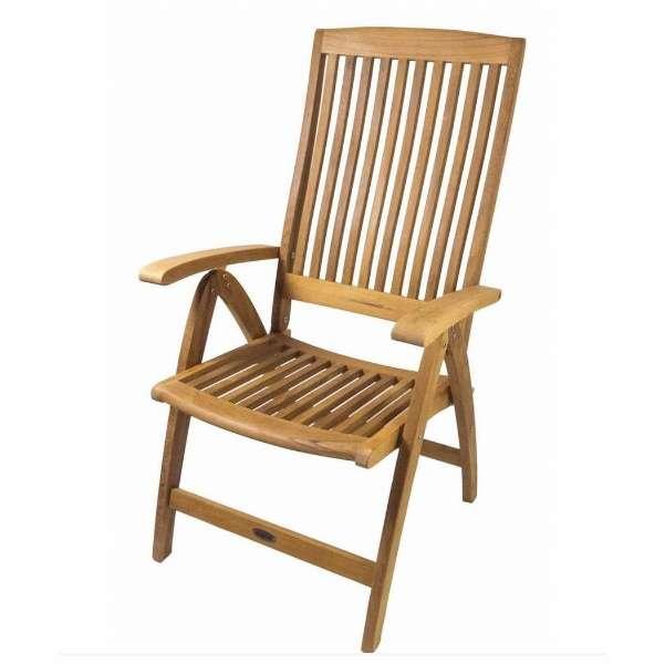 SeaTeak Weatherly Folding 6-Position Deck Armchair - 60064