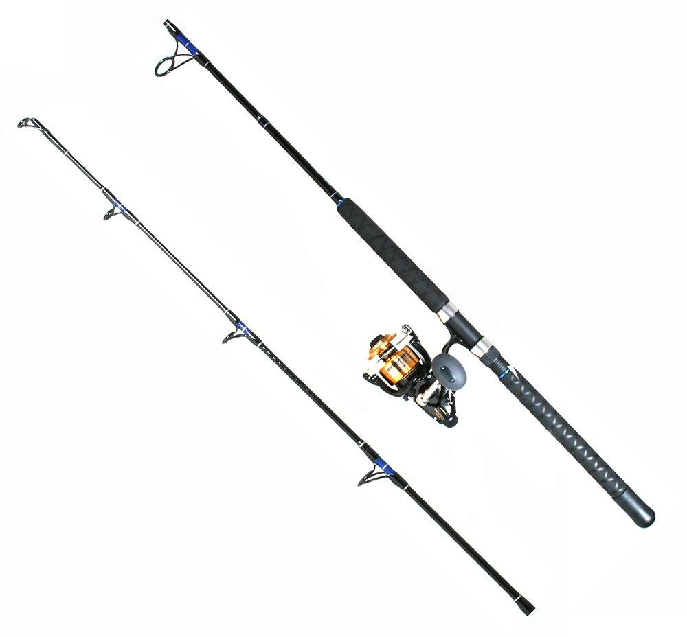 Shimano BTR8000D Baitrunner Reel / TackleDirect TDSBS701MH Custom Rod Spinning Jigging Combo SHM-3111