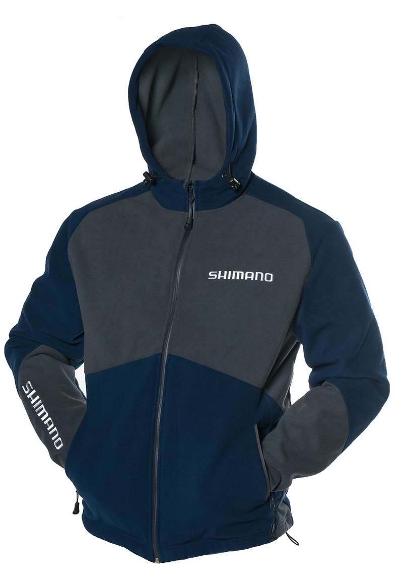Shimano magellan fleece hooded jacket 2xl for Magellan women s fishing shirts