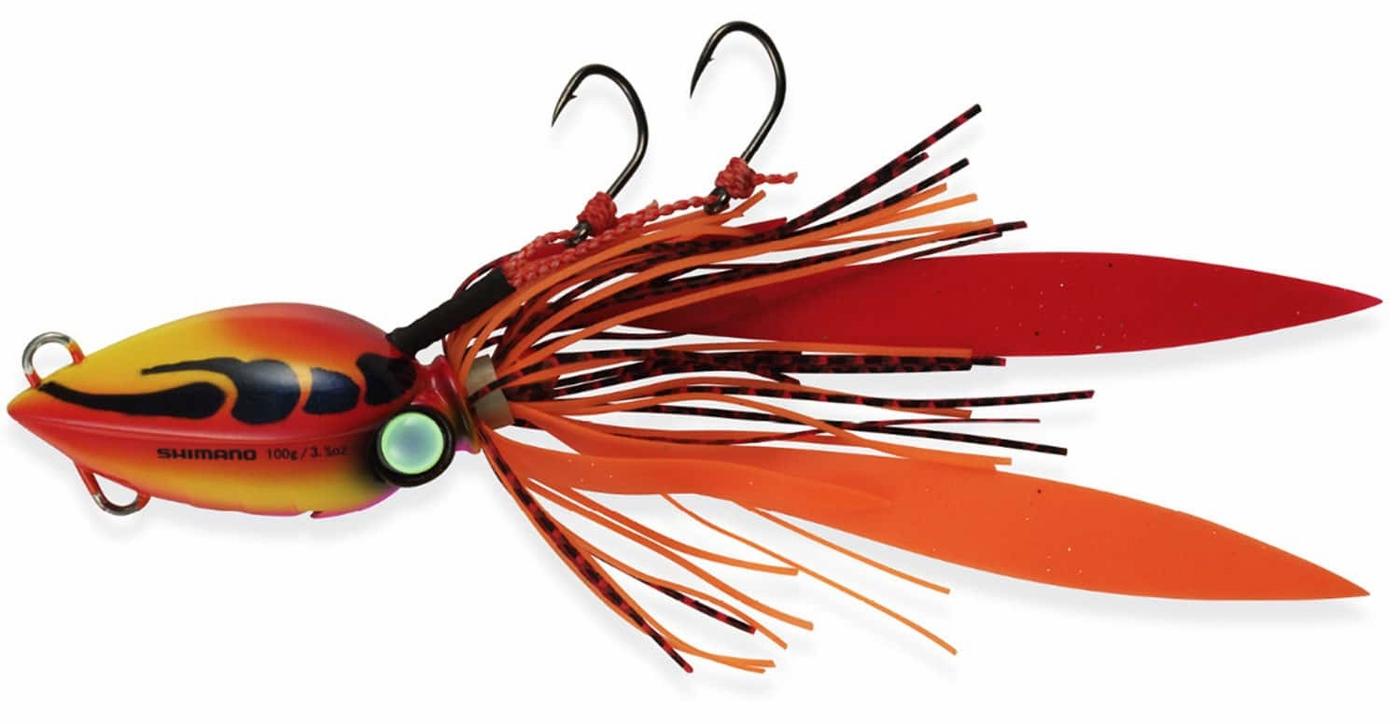 Shimano JLC200 200g/7oz Lucanus Jig Lures Sunset Crab SHM-1220-11