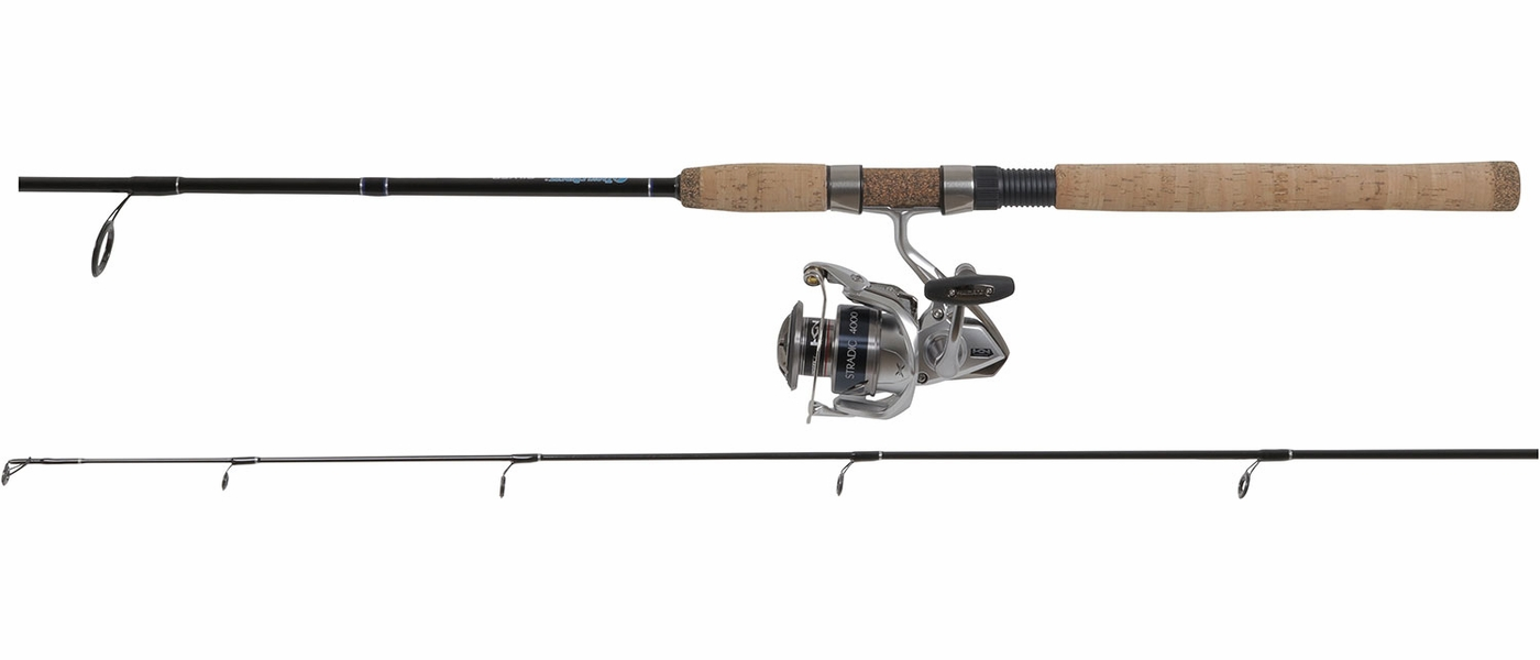 Shimano stradic fk spinning reel td custom rod combo for Fishing pole guides