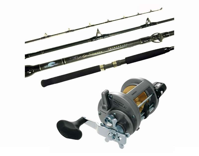 Shimano tekota tsunami tstbc661hw trophy wire combo for Tsunami fishing reels