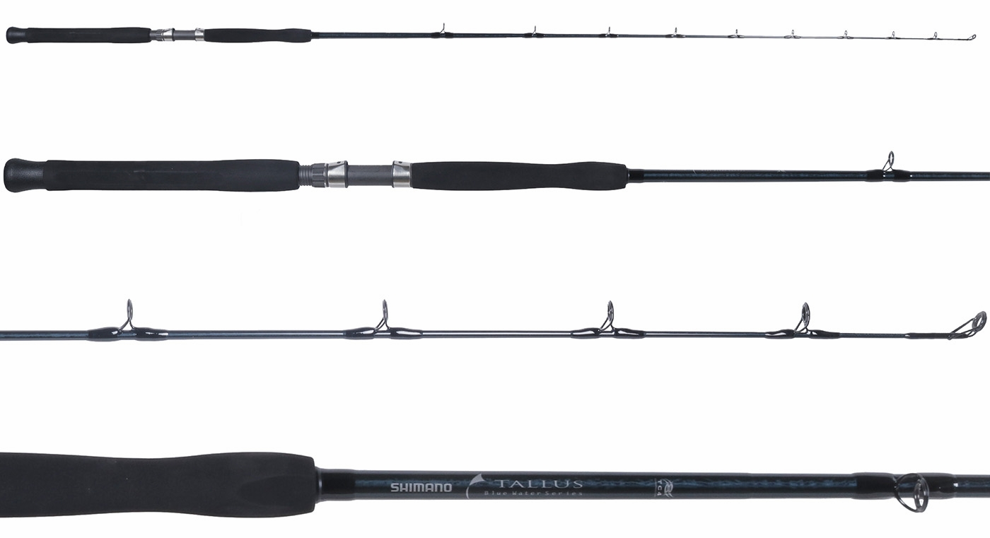 Shimano tlc80hbbl tallus blue water conventional rod for Salt water fishing poles