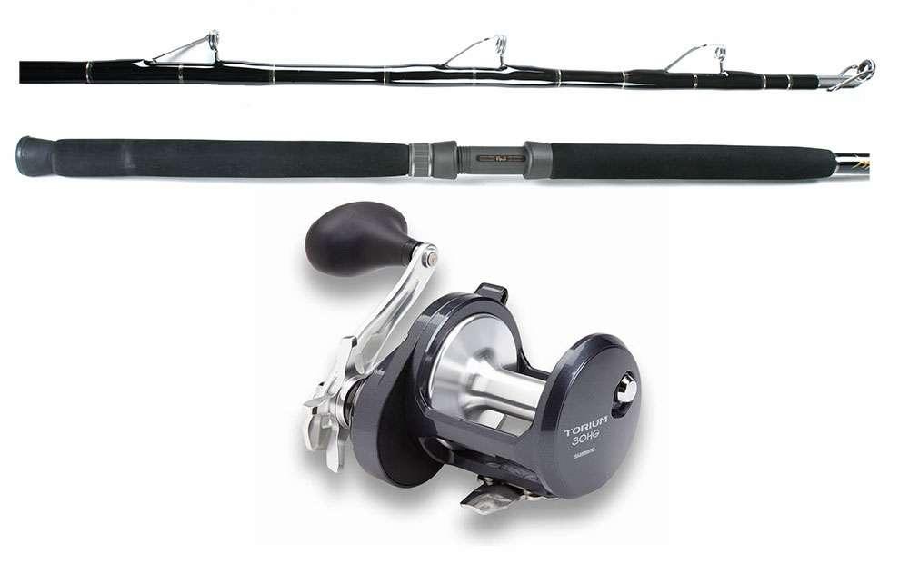 Shimano torium sw reel blackfin fin rod bottom combo for Bottom fishing rods
