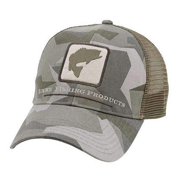 Simms bass trucker hats for Simms fishing hat