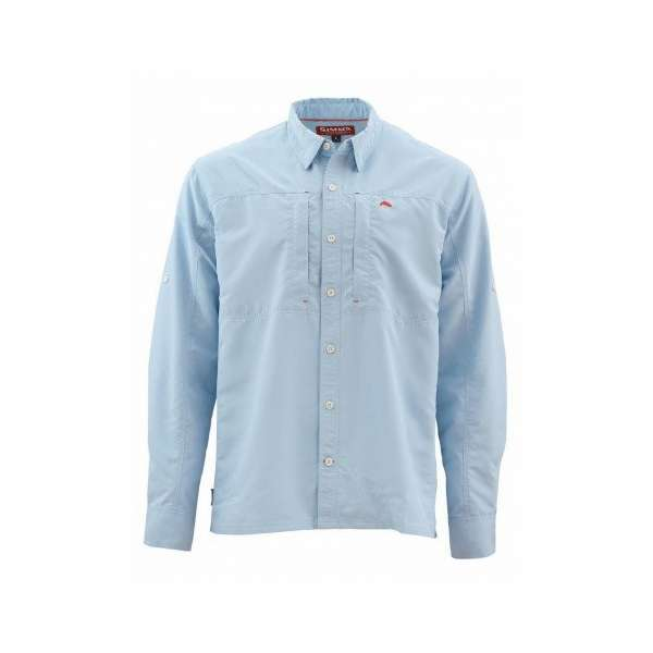 Simms BugStopper Long Sleeve Shirt Solid - Light Blue - Large SIM-1292-3