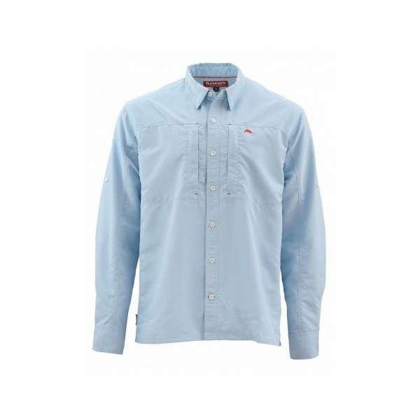 Simms BugStopper Long Sleeve Shirt Solid - Light Blue - Small SIM-1292-1