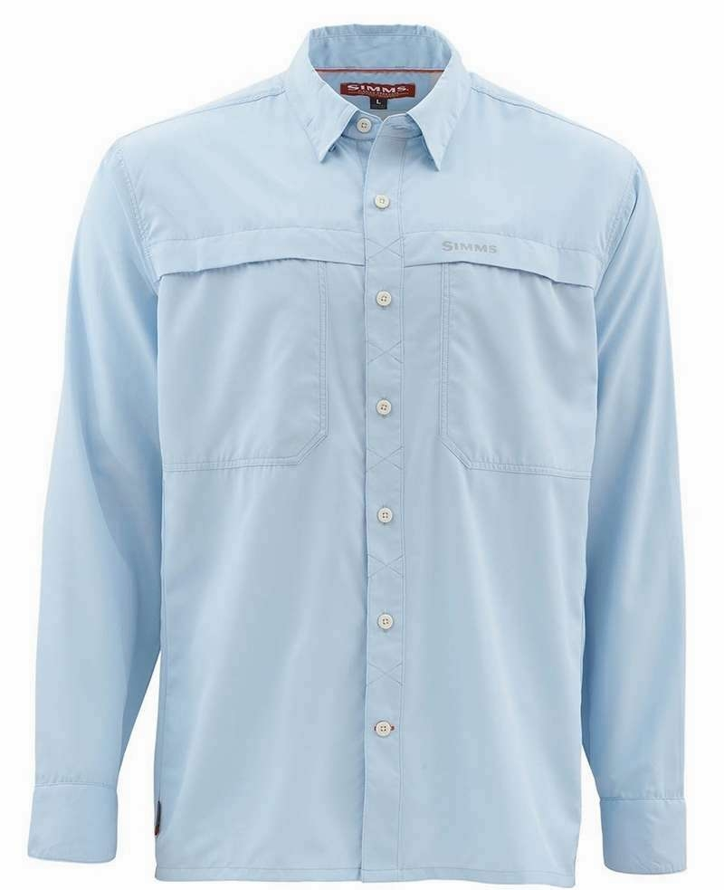 Size 2XL CLOSEOUT Simms Ebbtide Long Sleeve Shirt Sky Blue