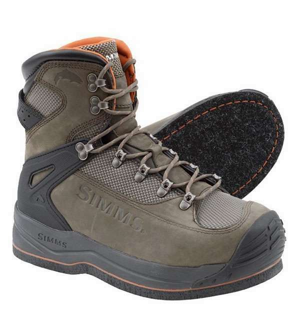 Simms Tributary Felt Sole Wading Boots for Adults Neoprene Lining Felt Bottom Fishing Boots Durable Rubber Toe Cap