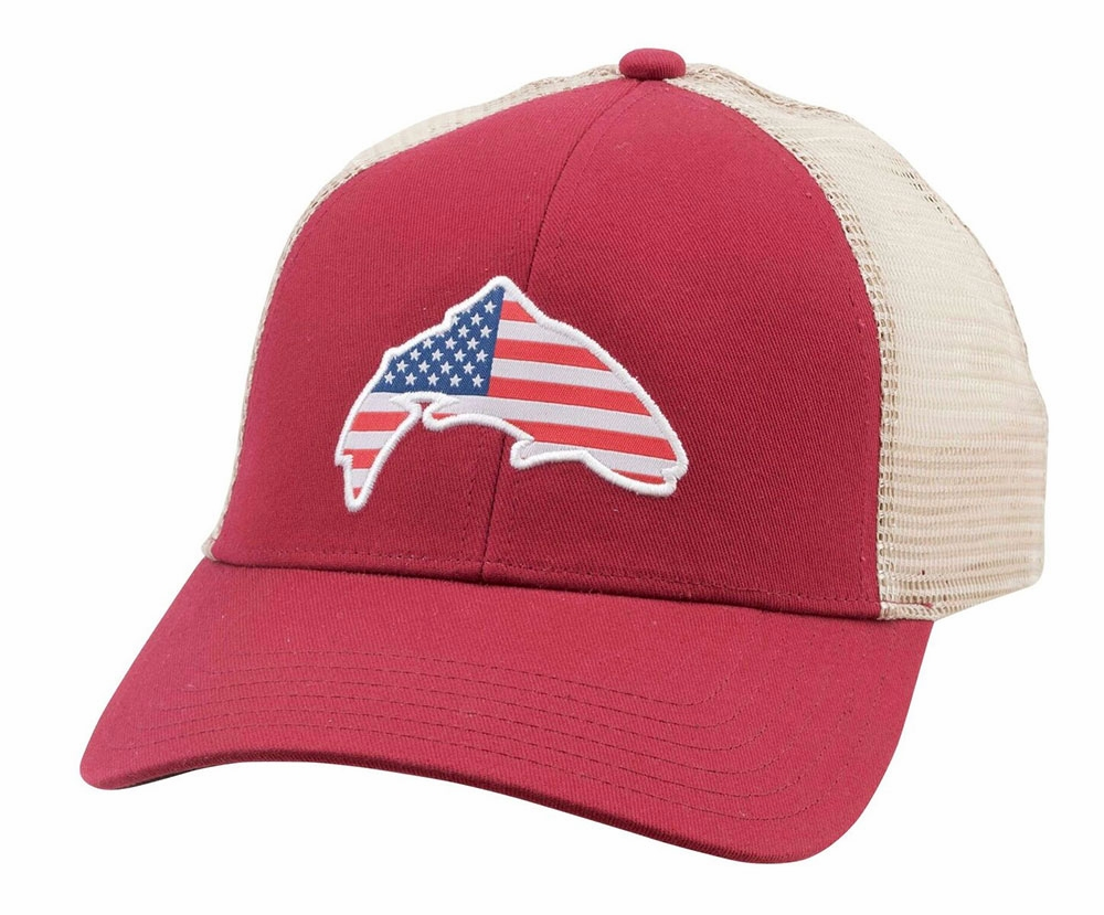 Simms USA Patch Trucker Hat-Scarlet Closeout