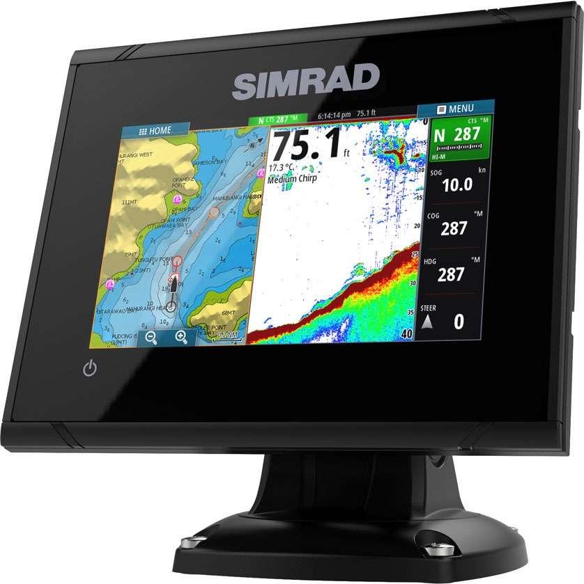 Simrad go5 xse chartplotter fishfinders tackledirect for Simrad fish finder