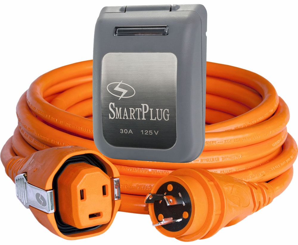 SmartPlug Dual Conf. 50' Cordset w/Twist-N-Lock Gray/30A