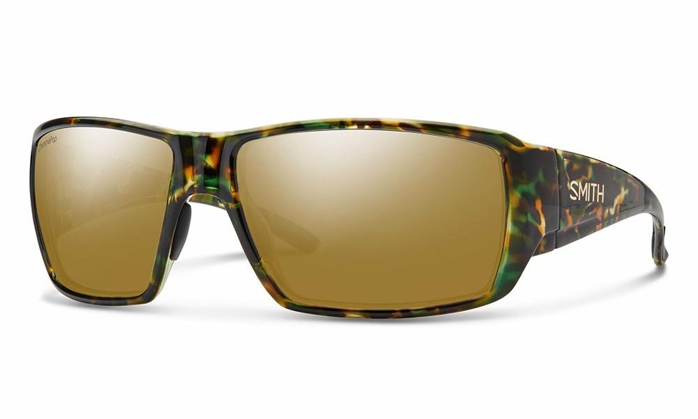 0b1449e89e Smith Optics Guides Choice Sunglasses - Flecked Green Tortoise Polarized  Bronze Mirror
