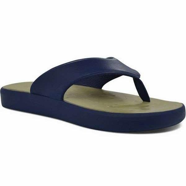 3ed97e07422db9 SoftScience Skiff Flip Flops - Dark Blue Khaki - M12 W14 - TackleDirect
