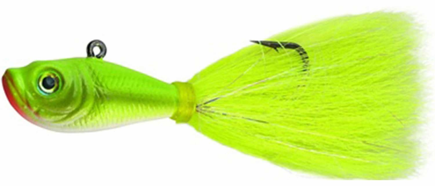 Spro Fishing Lure SBTJSE-3 Prime Bucktail Jig 3 oz Sand Eel Green