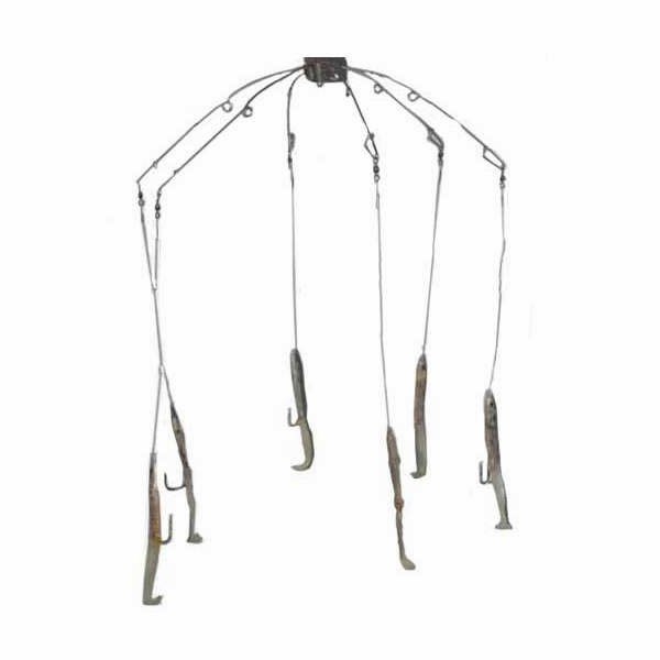Sportfish Products SFP-ER6 6 Arm Eel Umbrella Rig Natural