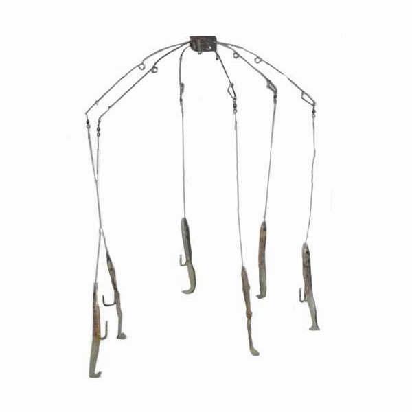 Sportfish Products SFP-ER6 6 Arm Eel Umbrella Rig Flo Green