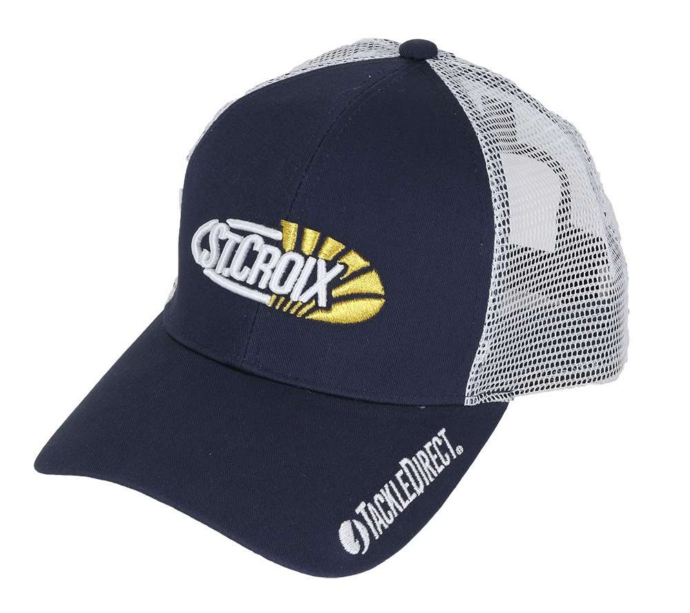 St croix cmbl td trucker mesh cap w tackledirect logo for St croix fishing apparel