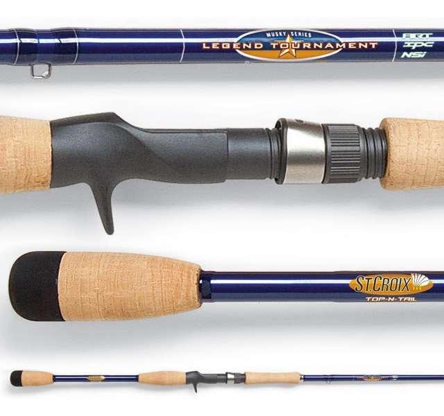 St croix ltmu86xhf legend tournament musky rod for Musky fishing rods