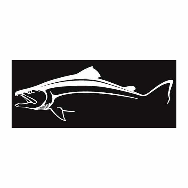 Steelfin Salmon Decal - Large White STL-0019-1