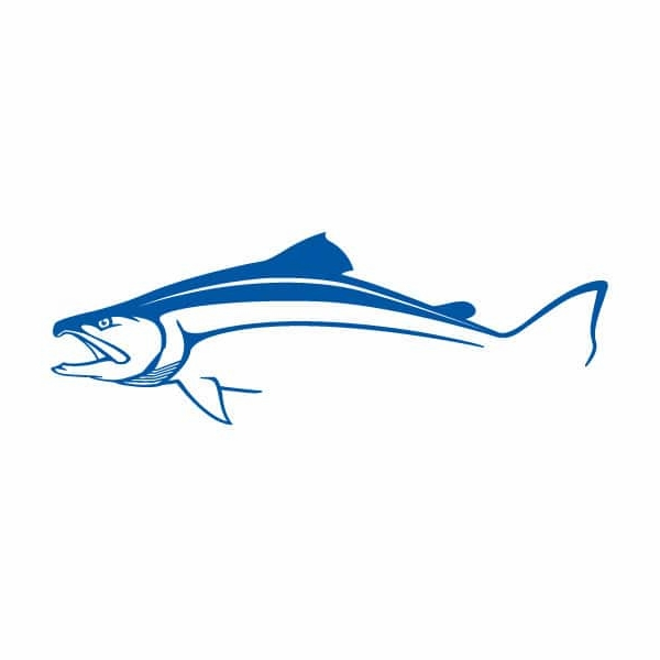 Steelfin Salmon Decal - Large Blue STL-0019-3